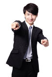Business man pointing at you Stock Photography