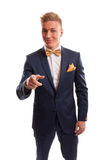 Business man pointing at you Stock Photo
