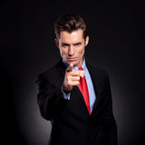Business man pointing at you royalty free stock photo