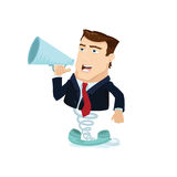 Business man popping out 1 Royalty Free Stock Images
