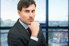 Business man portrait in his office Royalty Free Stock Images