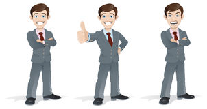 Business Man in Poses Stock Image