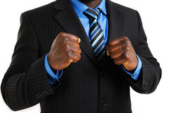 Business man posing with his fist Stock Photo