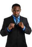 Business man posing with his fist Royalty Free Stock Photo
