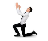 Business man pray Stock Image