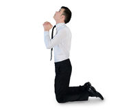 Business man pray looking up Stock Images