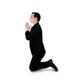 Business man pray position Stock Images