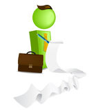 Business man preparing a list. Illustration of Business man preparing a list Royalty Free Stock Photography