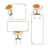 Business man present empty white board Royalty Free Stock Image