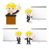 Business man present in meeting Royalty Free Stock Images
