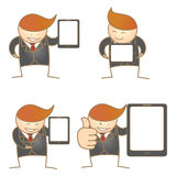 business man present tablet set Stock Photography