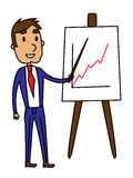 Business man presentation of a growth graph Stock Image