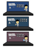 Business man presentation in stage cartoon Stock Photography