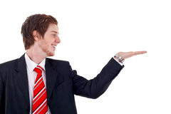 Business man presenting Royalty Free Stock Photos