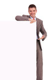 Business man presenting blank board Stock Photography