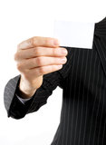 Business man presenting a business card Stock Photography
