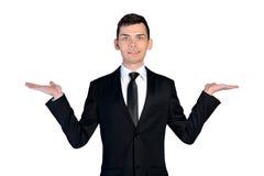 Business man presenting Stock Photo