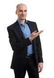 Business man presenting Stock Images