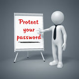 Business man presenting Protect your password Royalty Free Stock Photography