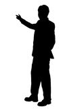 Business man presenting - silhouette Royalty Free Stock Images