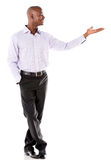 Business man presenting something Stock Photography