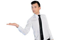 Business man presenting something Stock Images