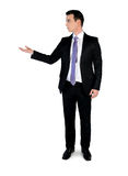 Business man presenting something Stock Photo