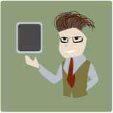 Business man presenting tablet Royalty Free Stock Photos