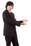 Business man presenting your product Royalty Free Stock Photos