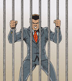 Business man Prisoner Stock Images