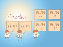 Business man proactive solution plan Royalty Free Stock Photo