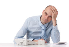 Business man with problems Stock Image