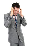 Business man with problems and stress Royalty Free Stock Photos