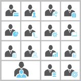 Business man profile icons Royalty Free Stock Photo