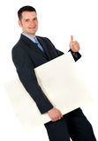 Business man with project Stock Image