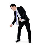 Business man pull something Stock Photography