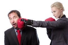 Business man punch to the head Stock Photography