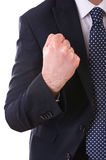 Businessman punching the air. Stock Photo