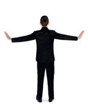 Business man push side Stock Photos