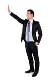 Business man push something Stock Photography