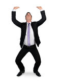Business man push something Stock Photos