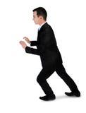 Business man push something Royalty Free Stock Images