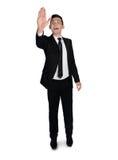 Business man push something Royalty Free Stock Photography