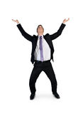 Business man push up something Royalty Free Stock Image