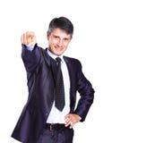 Business Man pushing Stock Photos