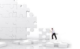 Business man puzzle Royalty Free Stock Photos