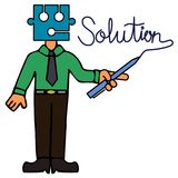 Puzzled solution Royalty Free Stock Photography