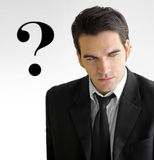 Business man question Royalty Free Stock Photo