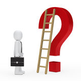 Business man question mark Royalty Free Stock Images