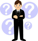 Business man with question mark. Illustration Royalty Free Stock Image